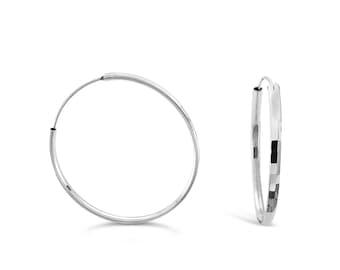 Silver Hoop Earrings - Silver Earrings - Silver Jewellery - Circle Earrings - Geometric Earrings - Minimalist Earrings - Jewellery Gift