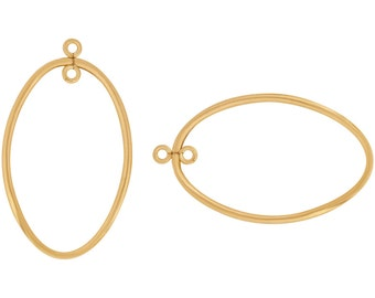 1 Pair 17x28 mm Gold Filled Oval Drop (GF4003121)