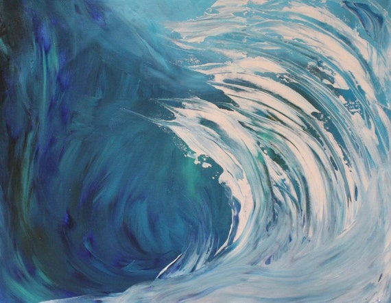 abstract wave painting