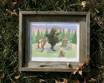 Wall Art Print - Dancing In the Woods - room art decor