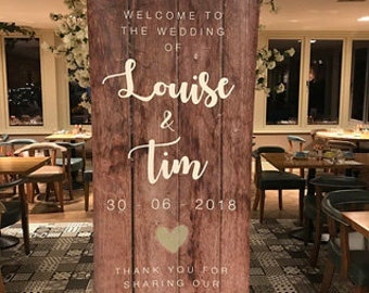 Personalised Pop Up Wedding Welcome Banners