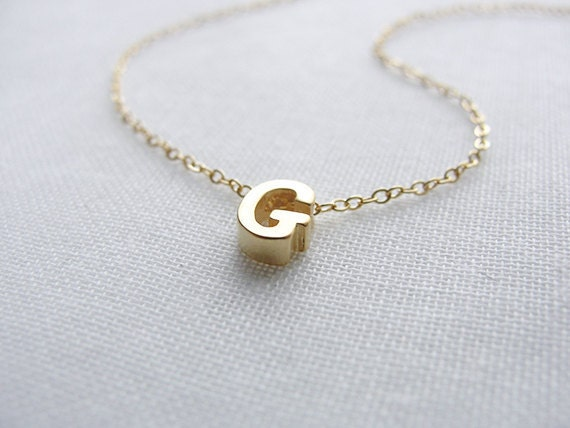 Items similar to tiny gold capital letter necklace initial necklace items similar to tiny gold capital letter necklace initial necklace personalized necklace small uppercase letter silver rose gold olive yew 1101 on mozeypictures Images