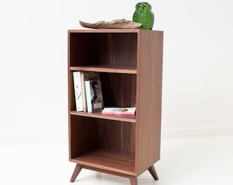 Classic Book Shelf - Mid-Century Modern Solid Walnut Bookcase