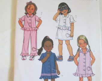 Butterick Sewing paper pattern child's Play clothes  pattern size 2,3,4,5, uncut B4218