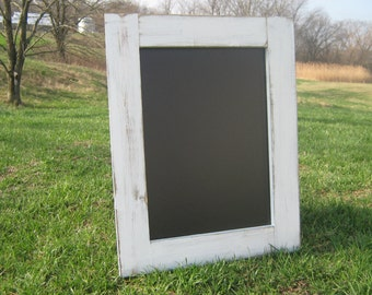 White distressed hanging chalkboard rustic  wedding chalk board home office data center