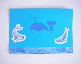 Card blue whale all occasions