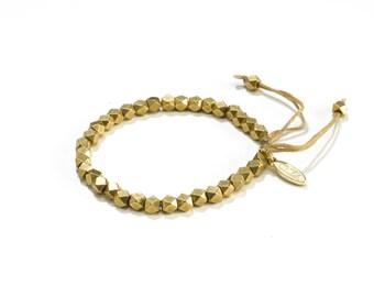Layering Bracelet - Stackable Simple Bracelet - Casual Beaded Bracelet - Stacking Bracelet - Brass Stackable Bracelet - Everyday Bracelet