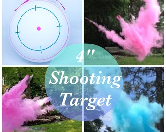 "4"" SHOOTING TARGET Gender Reveal Shooting Target Gender Reveal Ideas Gender Reveal Party Baby Boy Baby Girl"