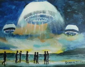 UFOs on the Beach