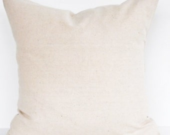 Natural Muslin Pillow Cover- 20x20, 18x18, 16x16, 14x14 or 12x18