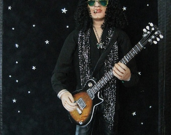 Rock and Roll One of a Kind Slash Art Doll