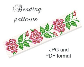 Beaded Flower Patterns Seed Bead Bracelet Pattern Beading Tutorials Loom Beading Patterns Loom Bracelet Tutorial Loom Pattern Bead Patterns