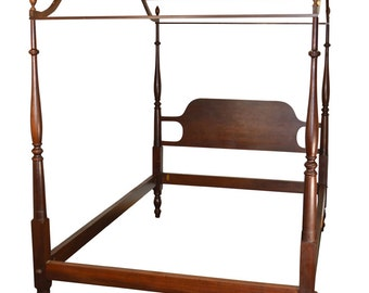 18146 *REDUCED PRICE* Vintage Mahogany Country Style Period Type Canopy Bed Full Size