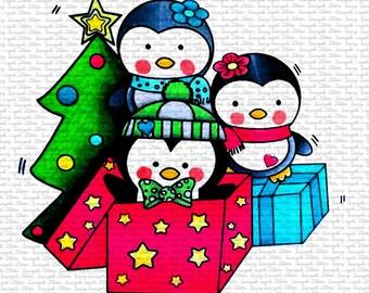 Christmas Penguins by Sasayaki Glitter