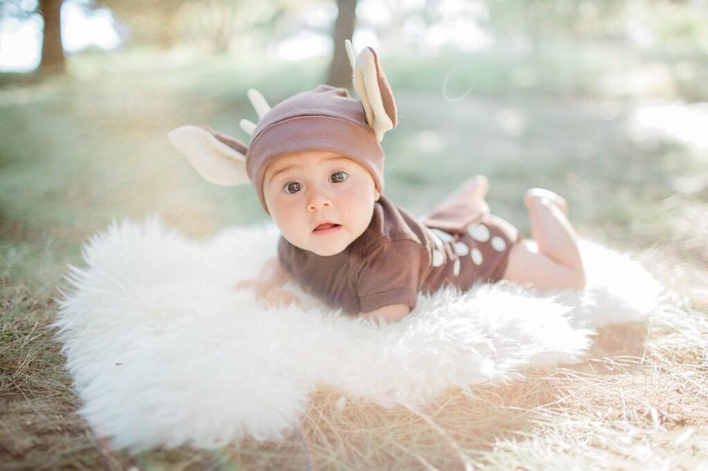 Baby Costume Baby Deer Costume Fawn Halloween Costume Deer