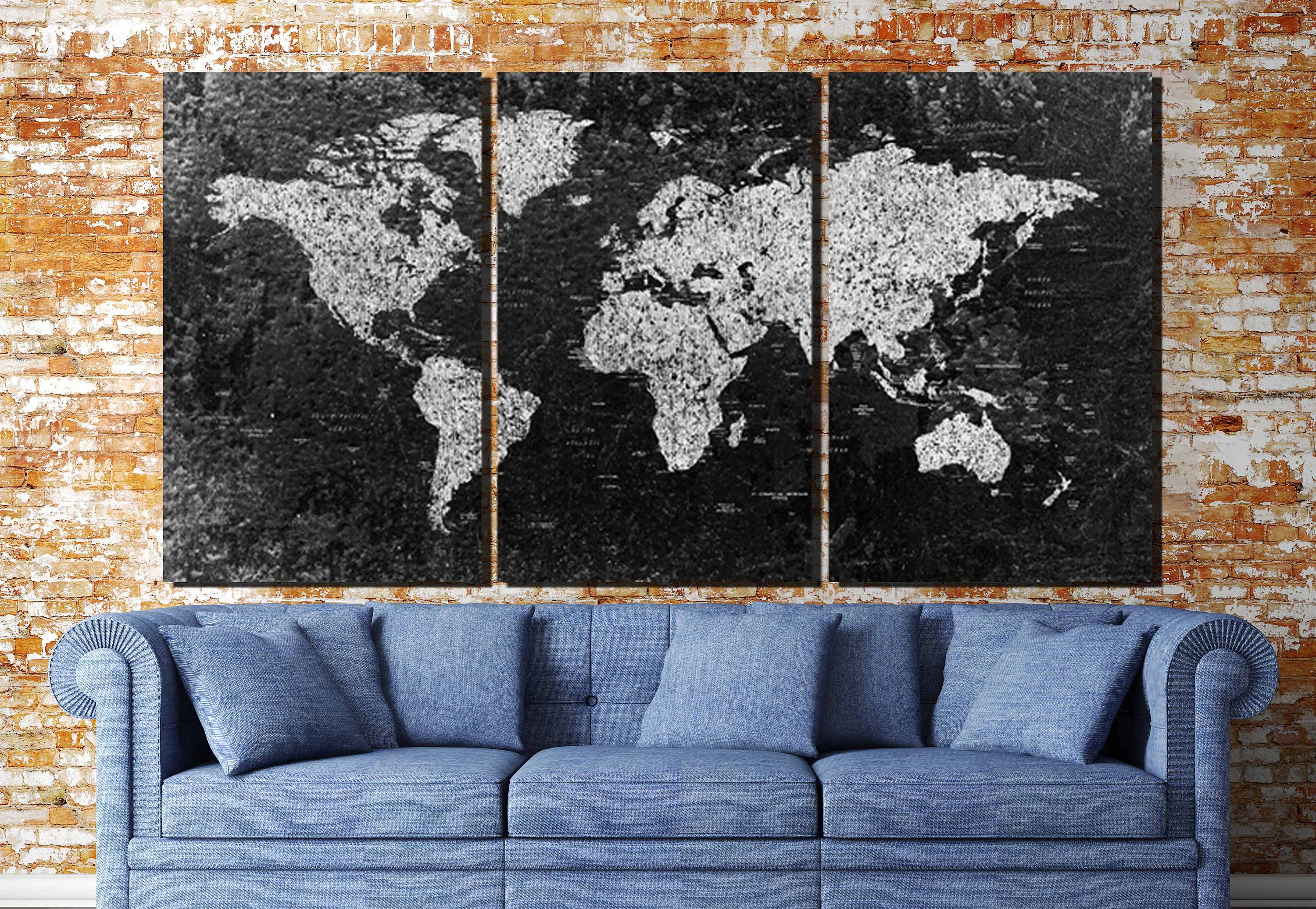 World map large black and white world mapworld map canvas black and white map art gallery photo gallery photo gallery photo gumiabroncs Choice Image