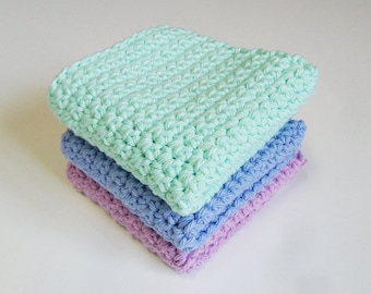 Crochet / pastel  Dish Cloths