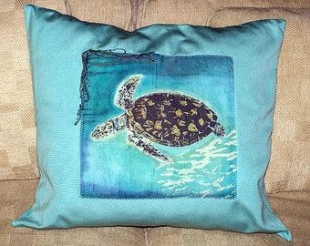 Tortuga Batik Throw Pillow