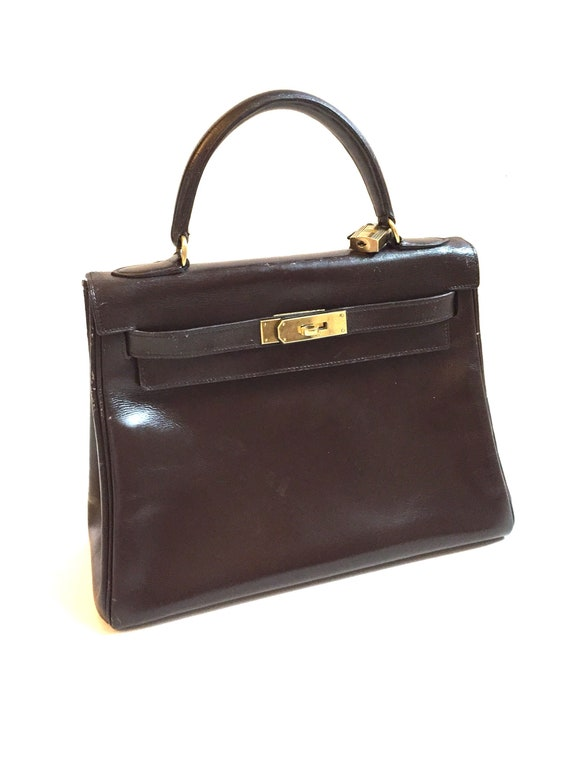 ... promo code for vintage 1945 hermes kelly 28cm sac a depeches brown box  calf 52105 89202 ... c868a6d0700e6