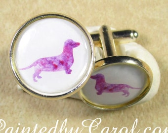 Dachshund Cufflinks, Dachshund Mens Gifts, Doxie Cufflinks, Wiener Dog Cufflinks, Wiener Dog Gifts, Gift for Dachshund Dad, Dachshund Dad