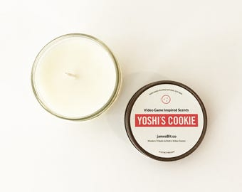 Video Game Candles, Lost Woods, Koopa Beach, Yoshi's Cookie, Soy Candles, Video Game Home Decor, Nintendo Candles, Zelda, Super Mario Kart