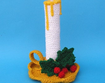 PDF Crochet Pattern HOLIDAY CANDLE (English only)
