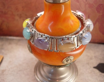 Vintage Moonstone bookchain bracelet sarah coventry