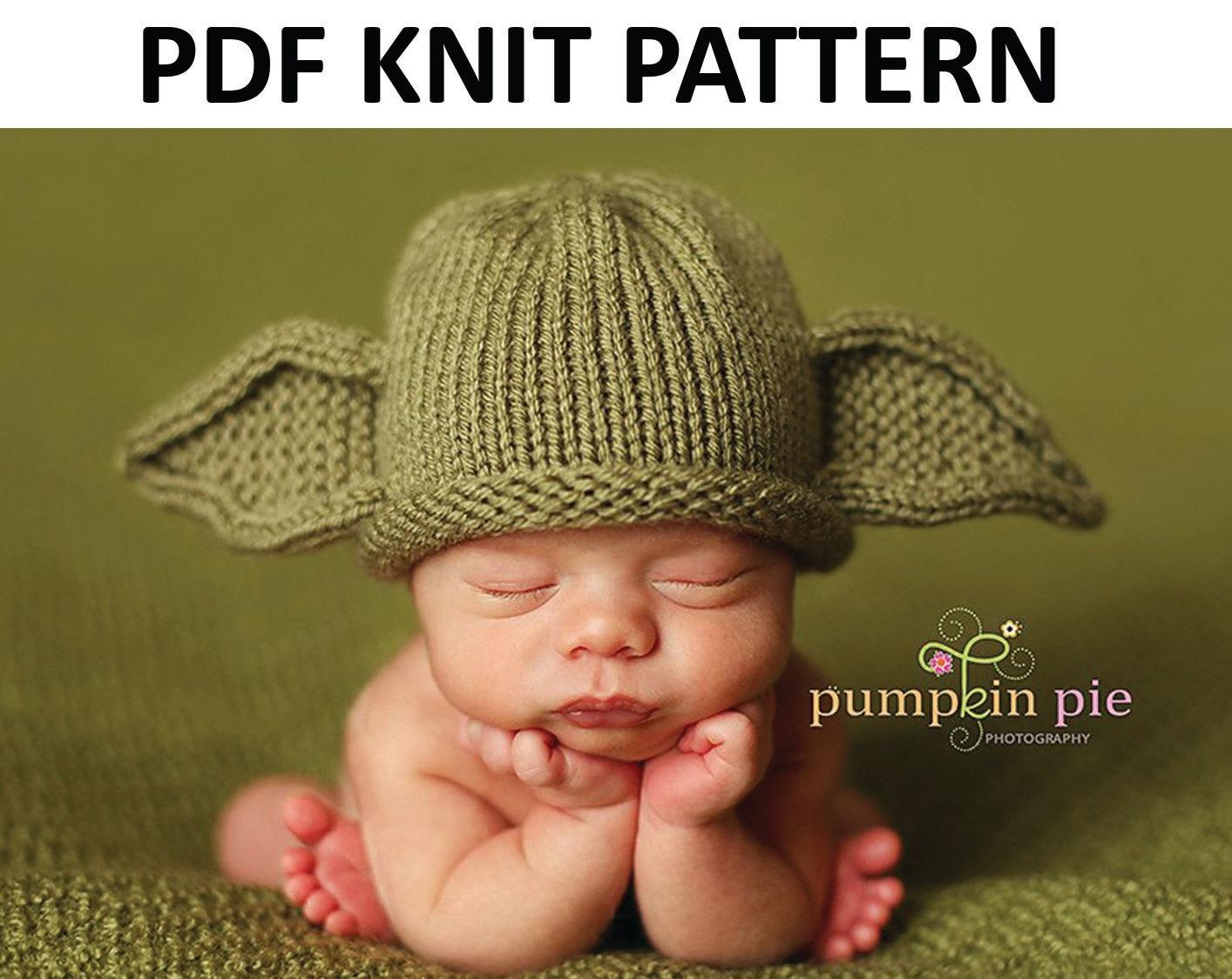 Yoda Hat Pattern Knit