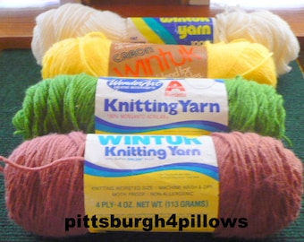 Newly Listed - Assorted Manufactures Wintuk Knitting Yarn - 3.5 to 4 ozs - 1 Has some yarn missing Price Reduced - Price Is For All