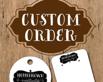 Custom Order Jewelry Display Cards for RoseWaterDesigns