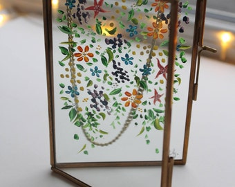 Floral Days - Painting on Glass Photo Frame