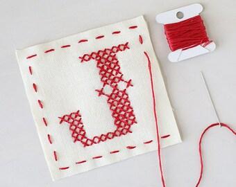 Letter J - Stitch Your Own Sachet Kit
