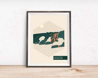 National park poster haleakala national park minimalist
