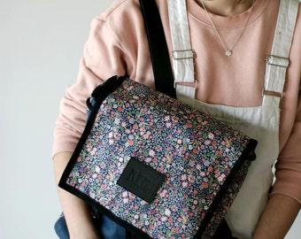 Boom Boom Denim Backpack, Denim and Leather Backpack, Women's Backpack