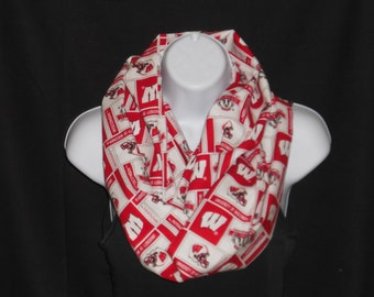 Wisconsin Badger  cotton Infinity Scarf