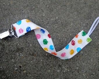 Tissu sucette Clip - Polka Dots