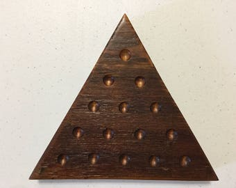 200 Year Old, Tabacco, Barn Wood, Solitaire, Peg Solitaire, Game Board, Wood, Marbles, Game Boards, Glass Marbles,