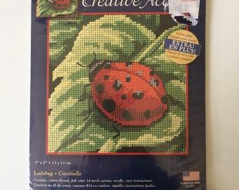 Creative Accents Needlepoint Kit Ladybug 79034