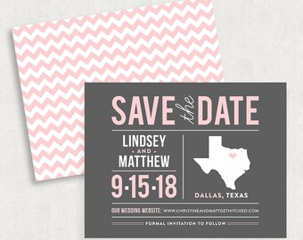 Texas Save the Dates, State Save the Dates, Destination Wedding Save the Dates, Texas Save the Date Magnets, Texas Save the Date Cards, DIY
