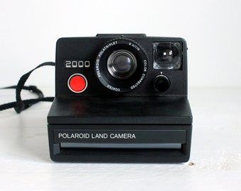 Vintage Polaroid Land Camera 2000 with Transport Bag