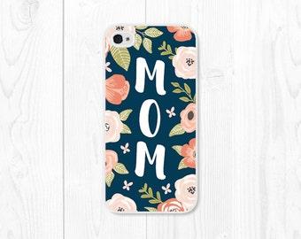 Maman mères journée cadeau Floral cas iPhone 6 s iPhone 6 iPhone Case femme d'affaire SE iPhone 5 cas iPhone 5 s cas cadeau femmes iPhone 5c affaire