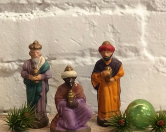 Vintage Chalkware 3 Kings Set