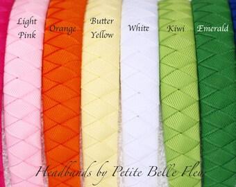 "Solid Ribbon Headband | Grosgrain Ribbon Headbands - 3/4"" Width Non-Padded 30+ Colors"