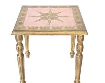 Pink Florentine Table