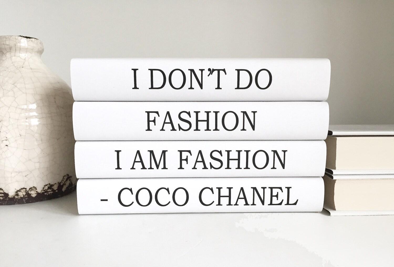 Fashion Coco Chanel Books Chanel Quote Decorative Books