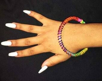 Rainbow Pine Needle Bracelet