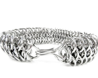 Chainmaille Bracelet - Dragonscale Pattern