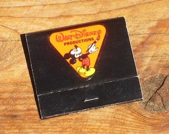 Vintage 70s Disneyland Walt Disney Productions Matchbook