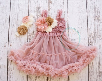 dusty rose flower girl dress- flower girl dresses- flower girl dress- girl dress- tutu dress- lace dress- pink dress- country dress- dresses