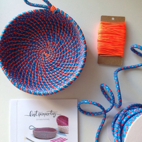 Coil rope bowl tutorial and materials woven rope basket for Craft ideas for adults step by step